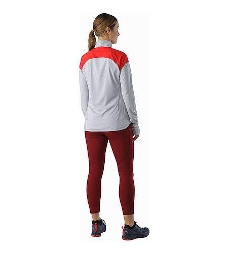 Taema Zip Neck Shirt LS Women's Rad Athena Grey Back View