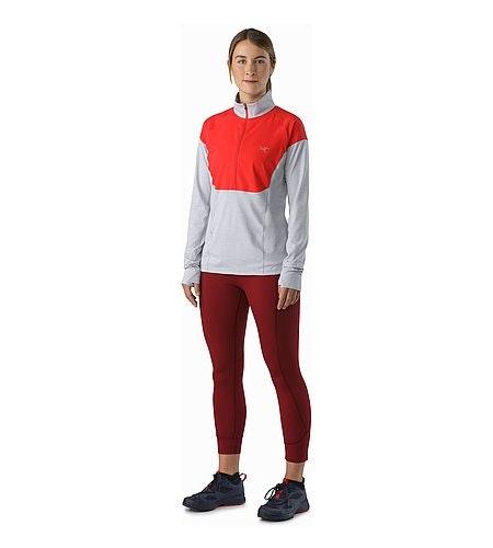 Taema Zip Neck Shirt LS Women's Rad Athena Grey Front View