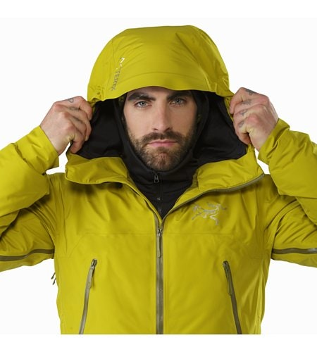 Tauri Jacket Everglade Hood Front View