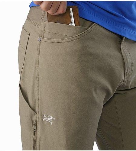 Texada Pant Sandstone External Pocket Front
