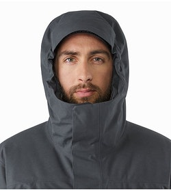 Therme Parka Nighthawk Hood Front View