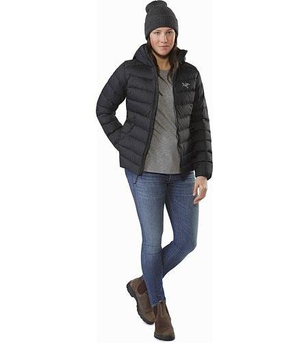Manteau à capuchon Thorium AR Femme Noir