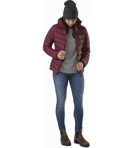Manteau à capuchon Thorium AR Femme Crimson
