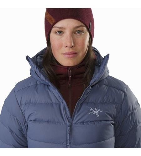 Manteau à capuchon Thorium AR Femme Nightshadow Détail du col