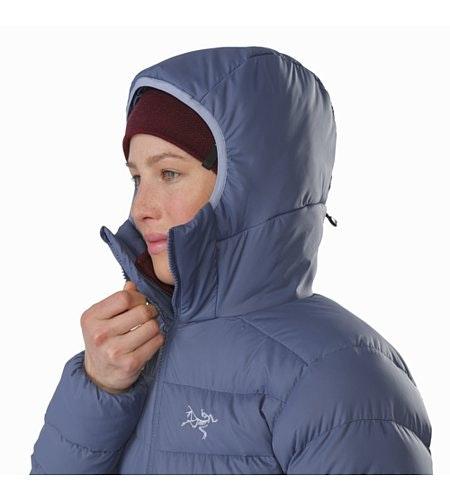 Manteau à capuchon Thorium AR Femme Nightshadow Capuchon relevé