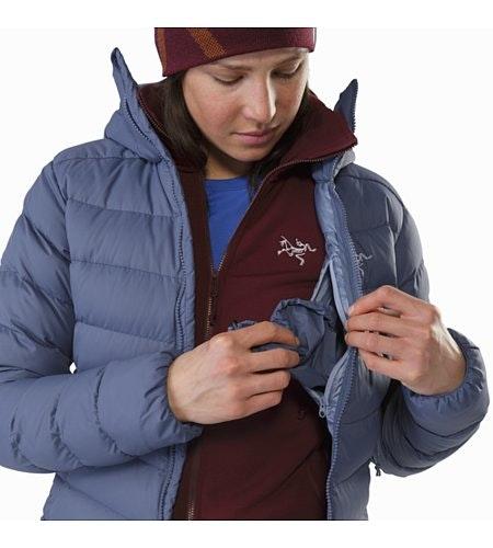 Manteau à capuchon Thorium AR Femme Nightshadow Poche de sécurité intérieure