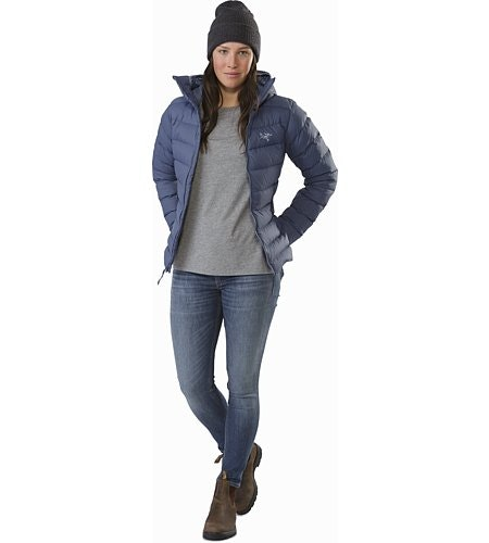 Manteau à capuchon Thorium AR Femme Nightshadow Ouvert