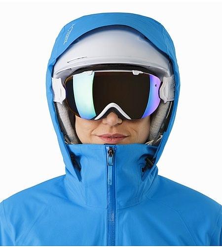 Tiya Jacket Women's Baja Helmet Compatible Hood Front View