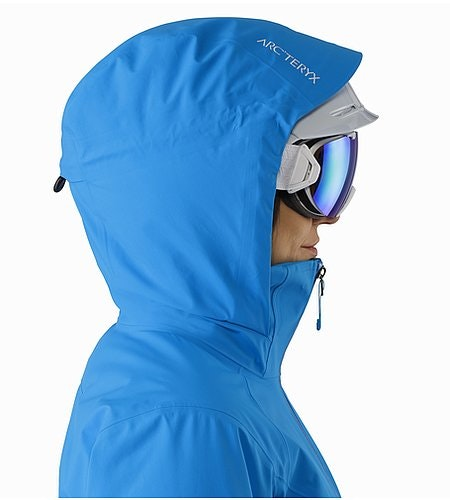 Tiya Jacket Women's Baja Helmet Compatible Hood Side View