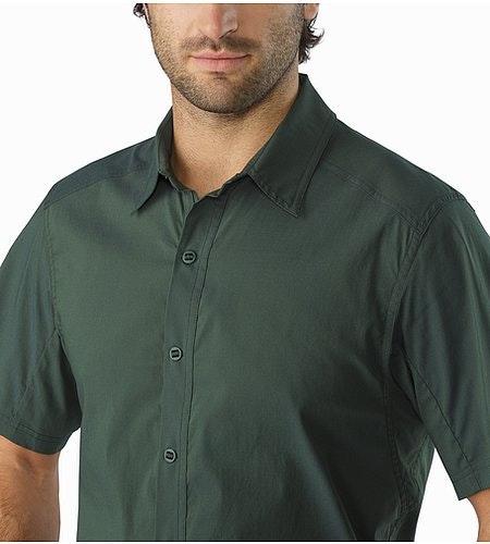 Transept Shirt SS Hemlock Open Collar