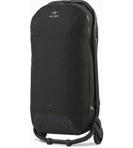 V110滚轮行李箱黑色正面