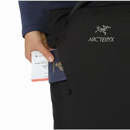 V80 Rolling Duffle Black External Pocket