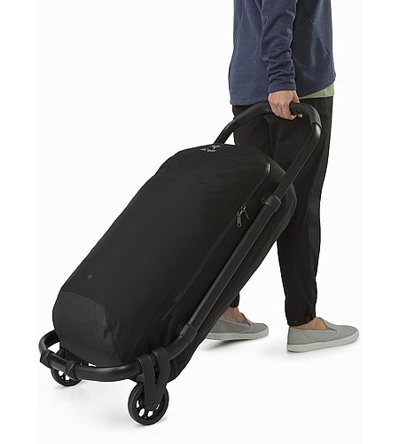V80 Rolling Duffle Black Full View