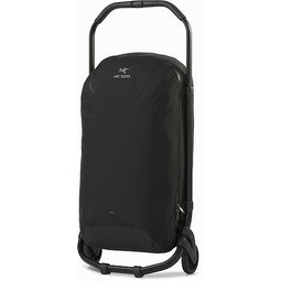 V80 Rolling Duffle Black Handle Stowed