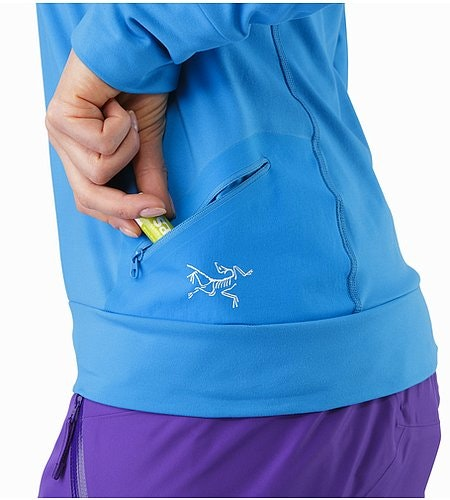 Vertices Hoody Women's Cedros Blue External Pocket