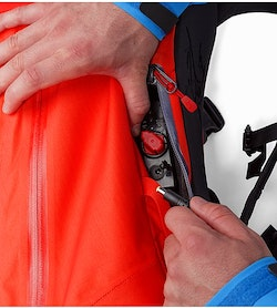 Voltair 20 Backpack Cayenne Battery Access Pocket