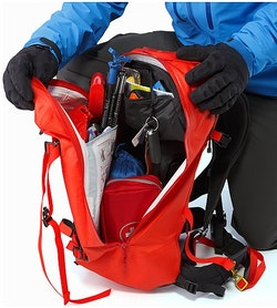 Voltair 20 Backpack Cayenne Main Compartment