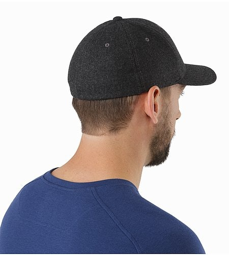 Wool Ball Cap Heathered Grey Back View