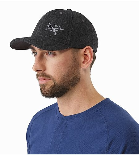 Casquette en laine Heathered Grey Vue de face