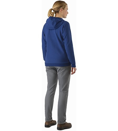 Word On End Full Zip Hoody Women's Mystic Heather Back View