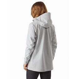 Wynd Softshell Coat Women's Athena Grey Back View