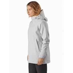 Wynd Softshell Coat Women's Athena Grey Front View