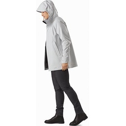 Wynd Softshell Coat Women's Athena Grey Full View