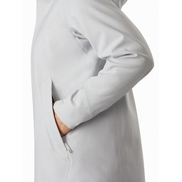 Wynd Softshell Coat Women's Athena Grey Hand Pocket