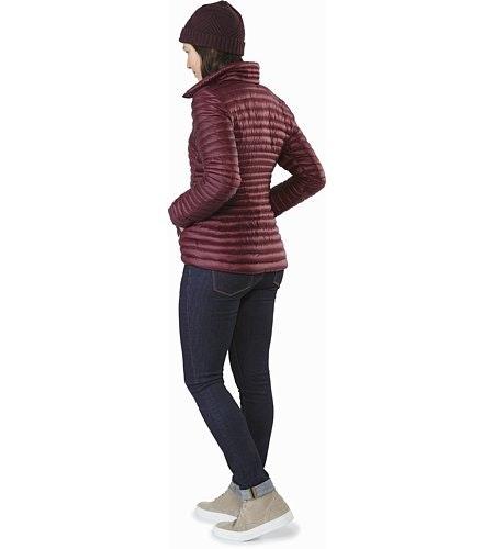 Yerba Coat Women's Crimson Back View