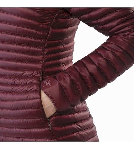 Yerba Coat Women's Crimson Hand Pocket