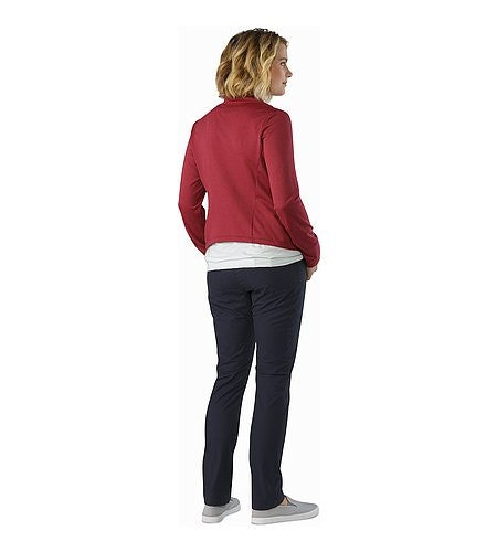 Yonge Wrap LS Women's Scarlet Back View