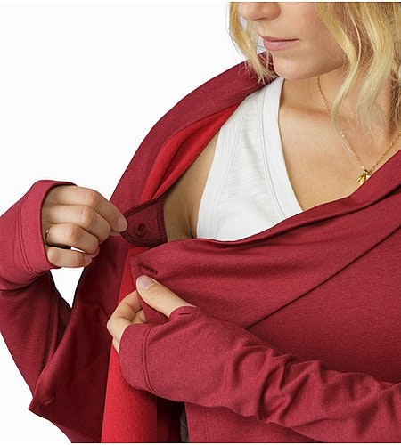 Yonge Wrap LS Women's Scarlet Interior Attachment