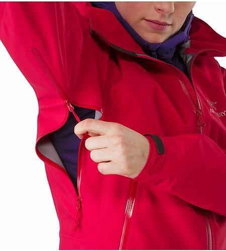 Zeta AR Jacket Women's Radicchio Pit Zip