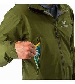 Zeta LT夹克军绿色插手口袋