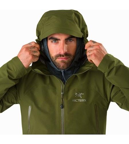 Zeta LT Jacket Bushwhack Hood Front View