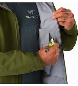 Zeta LT夹克军绿色内侧安全袋