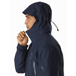 Zeta LT Jacket Cobalt Moon Hood Side View