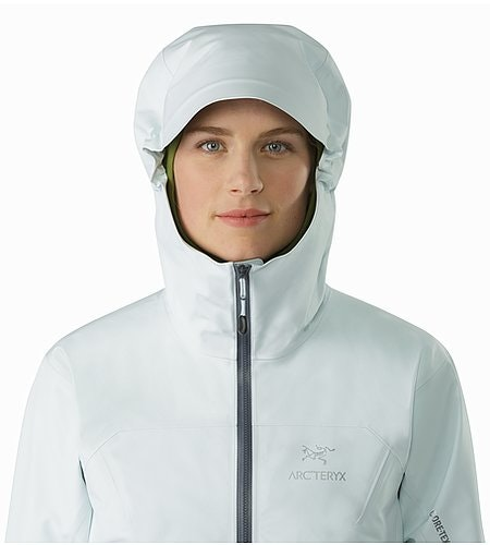 Zeta LT Jacket Women's Dew Drop Hood Front View