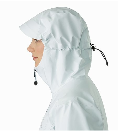 Zeta LT Jacket Women's Dew Drop Hood Side View