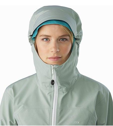Zeta LT Jacket Women's Sage Hood Front View