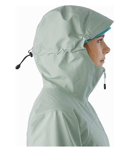 Zeta LT Jacket Women's Sage Hood Side View