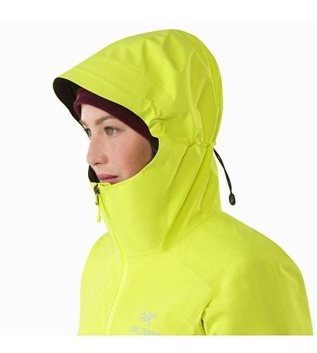 Zeta SL Jacket Women's Electrolyte Hood Up