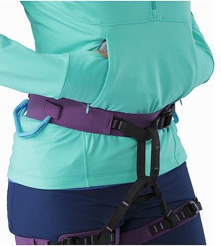 Zoa Hoody Women's Halcyon Eingrifftaschen mit Klettergurt