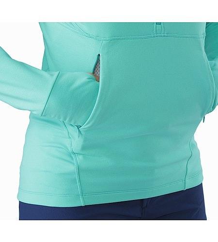 Zoa Hoody Women's Halcyon Hand Pockets
